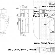 Mehanizam za klizna vrata sa automatskim zatvaračem i regulatorom brzine zatvaranja-1