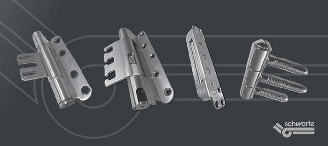SCHWARTE 3D nasadila/spone, ki ustrezajo EU standardom za protipožarna in protivlomna vrata.